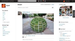 Exemple de l'interface de Diaspora